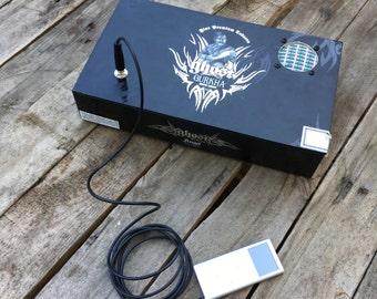 Cigar Box Bluetooth Speaker, Guitar Amplifier, Wired Speaker, Handmade Portable Amp - Gurkha Ghost