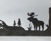 Hand Saw Moose Silhouette