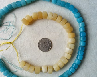 Lot No:11-  Blue ocean sky and Kaltsit strands beads.stones at cheap price, left over of past collections.