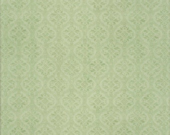 Damask Heather Green - Mirabelle by Santoro - Quilting Treasures Fabric 23902-H (sold by the 1/2 yard)