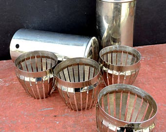 Picnic Wine Glass Carrier Baldwin's Glass Tumbler Carrier 1910's Edwardian Picnic