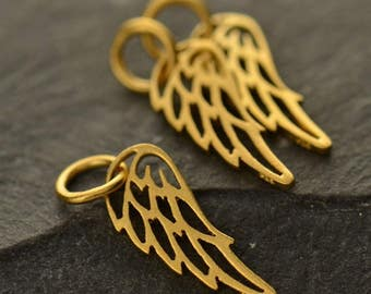 Add a Gold Filled Angel Wing or Bird Wing Charm / Pendant