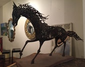 Iron Scrap Folk Art Horse Sculpture