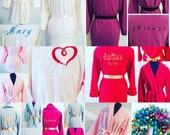Christmas Holiday Gift Robes, Monogrammed Robes, Fleece Robe, Fluffy Robe, Christmas Gift Ideas