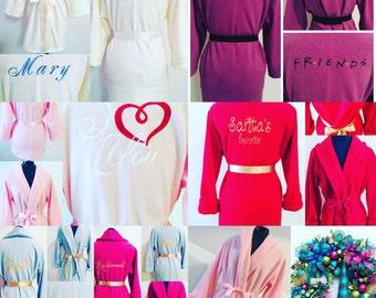Gift Robes, Monogrammed Robes, Fleece Robe, Fluffy Robe