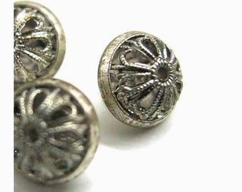 3 old filigree buttons -  1940 - 1950