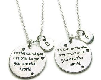 2 Best Friends Necklaces, 2 Friends Necklaces, 2 Sisters Necklaces, Couples Necklaces, BF GF Necklaces, Personalized Necklaces