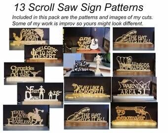 13 Scroll Saw Sign Patterns eBook