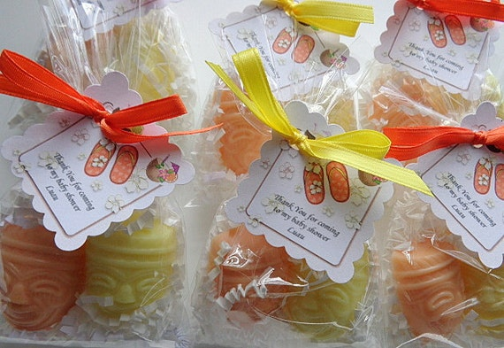 20 Luau Party Soap Favors, 40 Soaps Complete, Summer Parties, Special Occasions, Complete with Packaging