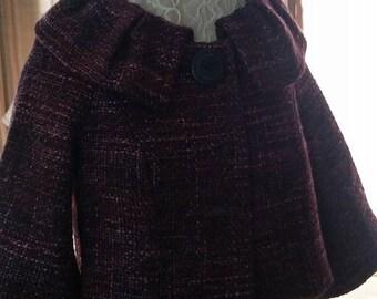 Vintage Arden B Cape/Jacket Size Small Pink Black