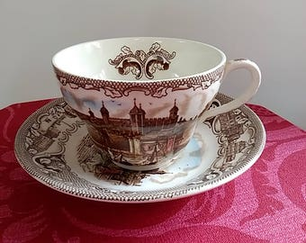 Large Tea cup & saucer - 'Old London' by Johnson Bros, England