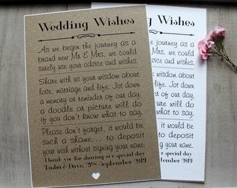 Wedding Wish Tree Sign Favour Decoration Vintage/Shabby Chic