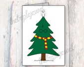 Harry Potter Christmas Cards, Christmas Tree, Gryffindor, Greeting Card, Geekery, Quote Print, Christmas Gift, Holiday Cards, Dumbledore