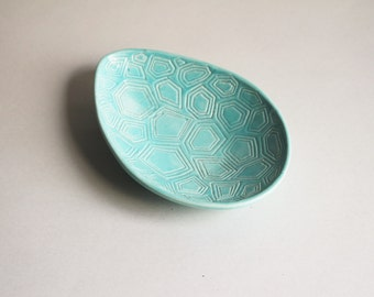 Vintage Ceramic Oval Small Serving Dish