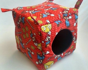 "Mario Cube! 8"" x 8""  Perfect for any of your fur critters!  Guinea Pigs, Ferrets, Rats, Chinchillas, Hedgehogs! READY TO SHIP!"