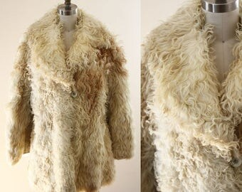 1970s Sherling Fur Coat // 1970s curly lamb fur coat // vintage fur coat