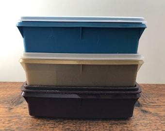 Vintage Tupperware Tuppercraft Organizer - Tupperware Divided Storage Box - Craft Box - Sewing Box 769, 766, 767,