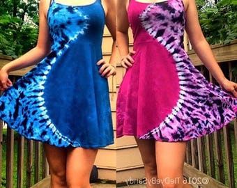 SALE! Tie-Dye Short Strappy Hippie Dress