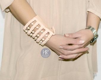 "Secret Bracelet , bracelet Purse ""Peach"". Wide bracelet money cuff . Bracelet for money , wallet . Exclusive bracelet . Wrist Wallet"