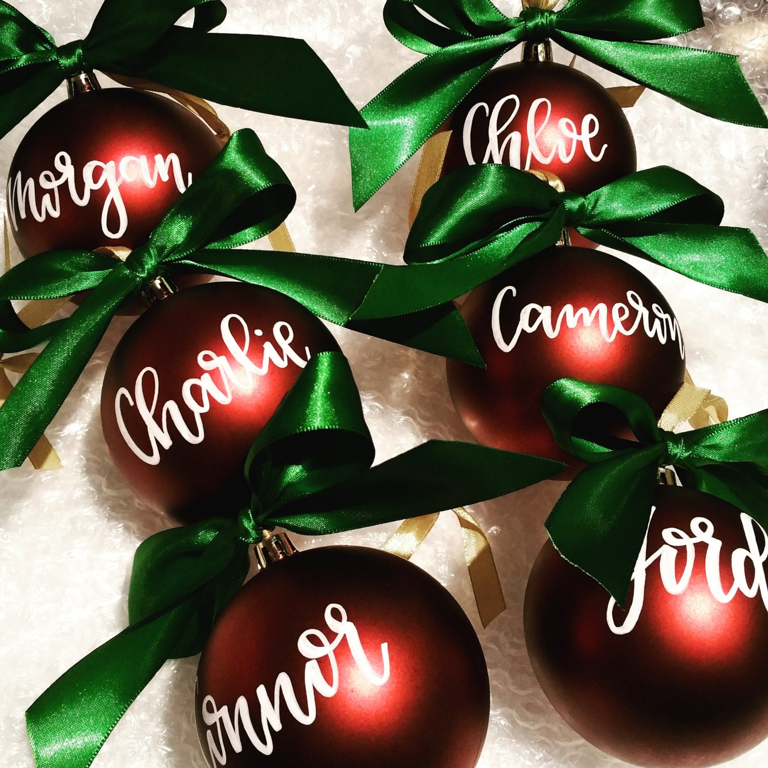 Personalized christmas ornaments hand by kellicliftpencraft for Personalized christmas photo ornaments