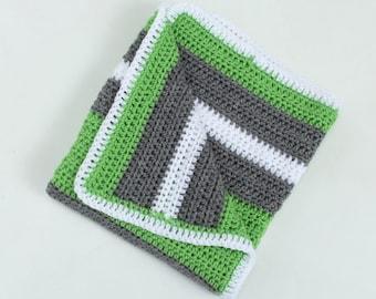 Crochet Stripe Baby Blanket