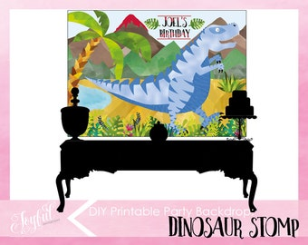 Dinosaur Birthday Party Backdrop