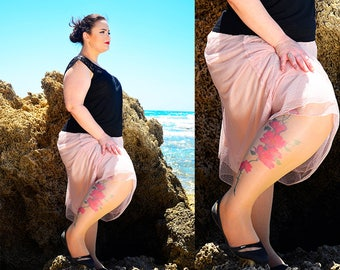 New Tattoo Tights, S-XXL Sizes Available, Printed Pantyhose, Hand printed  Tights,