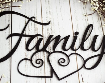 """Family Metal Wall Art 