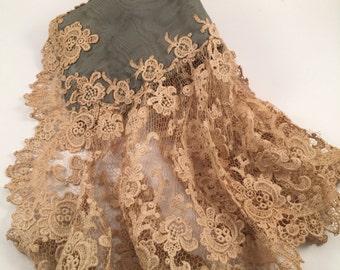 Victorian lace and silk sleeve