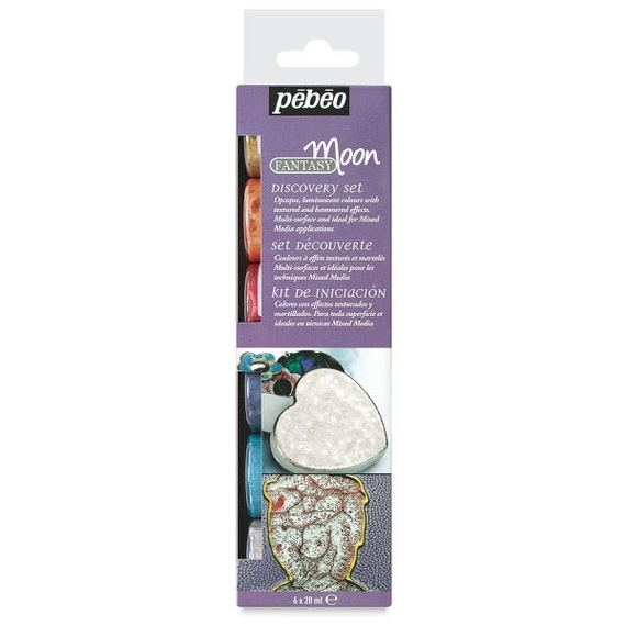 Pebeo fantasy moon solvent based paints for use on all for Solvent based glass paint