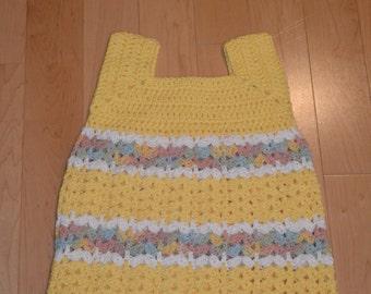4-5 years old sleeveless yellow top