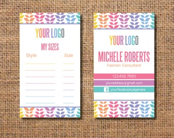 Fashion Business Cards, Fashion Retailer Business Cards, Clothing Business Cards, Personalized Business Cards, Custom Business Cards