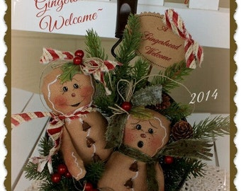 Primitive Gingerbread Pattern A Gingerbread Welcome Christmas Sifter Pattern