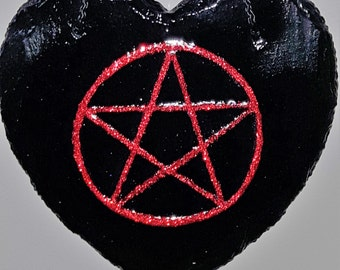 Hand Painted PENTAGRAM Acrylic on Slate - Wall Hanging - Pagan - Wicca