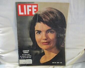 Vintage LIfe Magazine Jackie Kennedy May 1964
