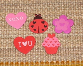 Love -themed Foam sticker assortment,Kid's Mother's Day cardmaking,Lady love bug,hearts,flowers,75 pieces, craft pieces,kid's cards,crafts