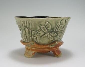 Matcha Tea Bowl, Buddha Dragonfly Bowl,Ceramic Serving Bowl (#32)