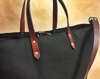 Porter Tote Bag, Canvas bag, Large Tote Bag, Crossbody Bag, Adjustable Strap,