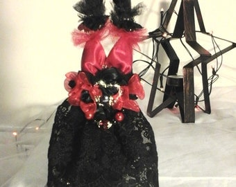 Holiday Ornament Dress black red gift sale