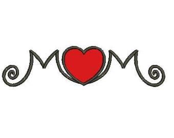 mom applique embroidery design