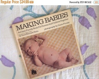 30% Off Making Babies, 1974, Great Condition, Mid Century Aesthetic, Black and White Children, Hard to Find, Parental Aid, Birds and Bees, S