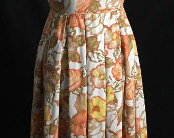 Vintage 1950's Floral Sundress With Cutout