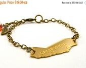 20% OFF SALE Vintage California Bracelet, California Charm Bracelet
