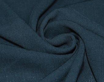 Teal 59'' Solid Linen Look Light-Weight Poly Fabric by the Yard - Style 688