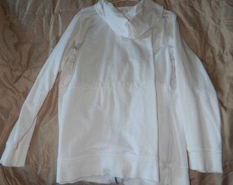 Long sleeved Cotton Hoodie/Sweatshirt, with waist ties.  Size L. Used.