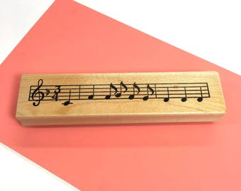 Music Notes Rubber Stamp Musical Craft Stamp Sheet Music Notation Craft Rubber Stamp Stamping