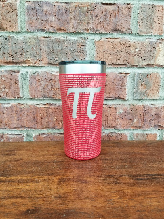 Pi Powder Coated Tumbler, Laser Engraved