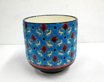 1920s French Longwy Porcelain Cache Pot