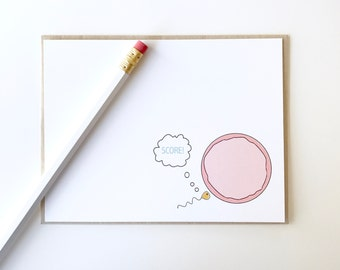 Funny new baby card. Congratulations on the pregnancy. Sperm and Egg