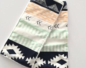 BURP CLOTH SALE- Burp Cloth Set • Aztec Tribal • Burp Cloths • Burp Rags • Baby Shower Gift • Baby • BizyBelle